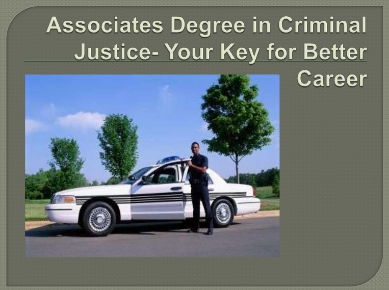 Associate Degree in Criminal Justice