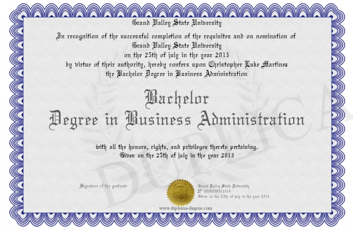 Bachelor Degree in Business Administration