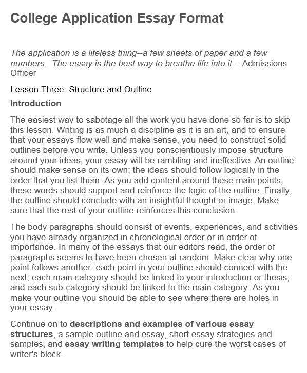 University application essay